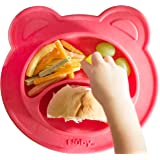 Nuby Sure Grip Miracle Mat Section Plate, Coral Bear