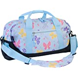Overnight Duffel Bag Olive Kids by Wildkin Children's Duffel Bag with Carrying Handles and Padded Shoulder Strap Perfect for Sleepovers and Sports Practice Children Ages 3+ Years - Butterfly Garden