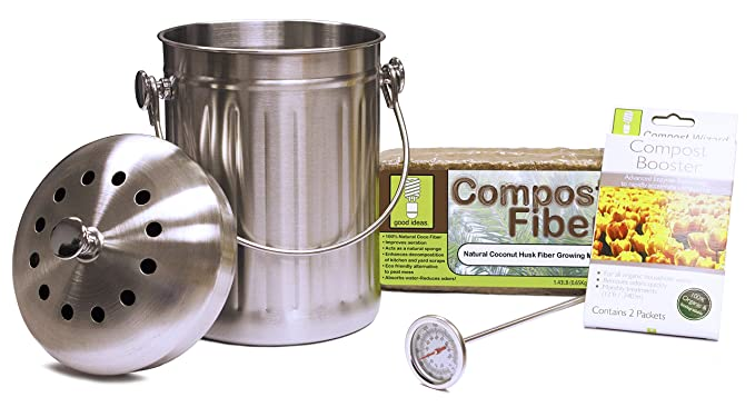 Good Ideas cw-sta3qt-sst inoxidable asistente de Compost cubo para Essentials Kit: Amazon.es: Jardín