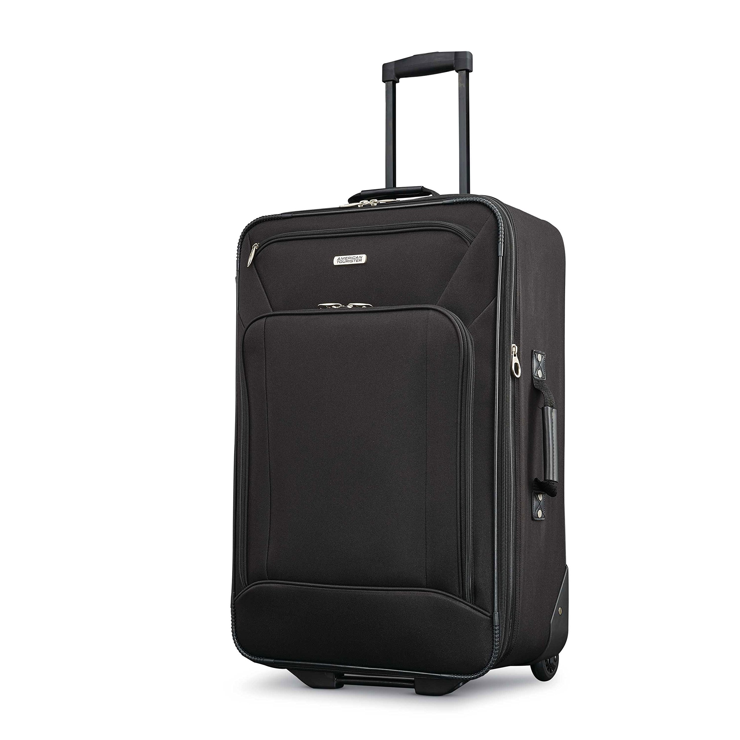 American Tourister Fieldbrook Xlt 4pc Set (Bb/Wh Dfl/ 21/25 Upright), Black by American Tourister (Image #6)