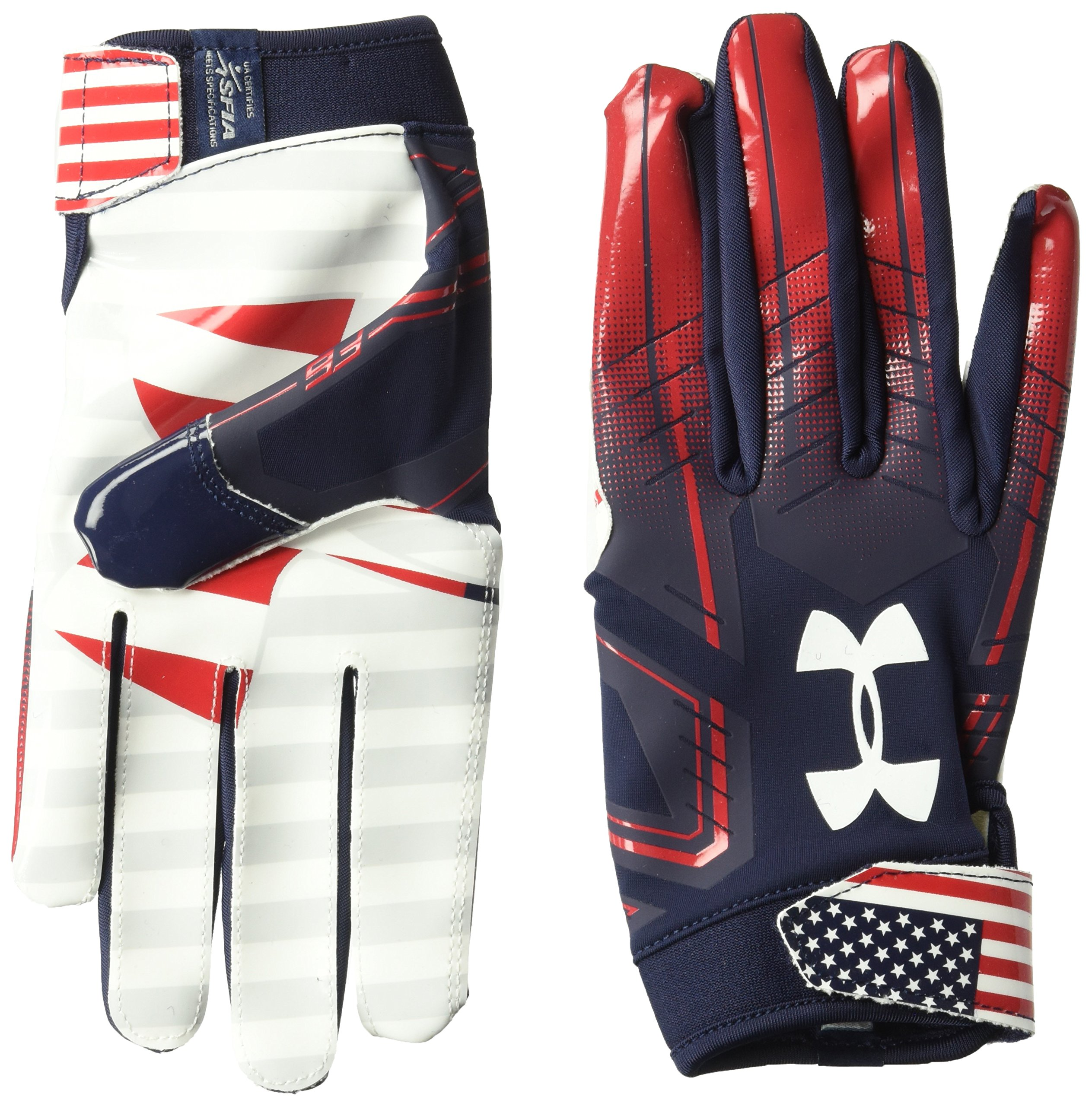 Under Armour Men's F6 LE Football Gloves, Midnight Navy (410)/White, Medium
