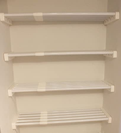 Merveilleux EZ Shelf   Expandable Linen Closet Kit   Four 28u0026quot; 48u0026quot; Expandable  Shelves