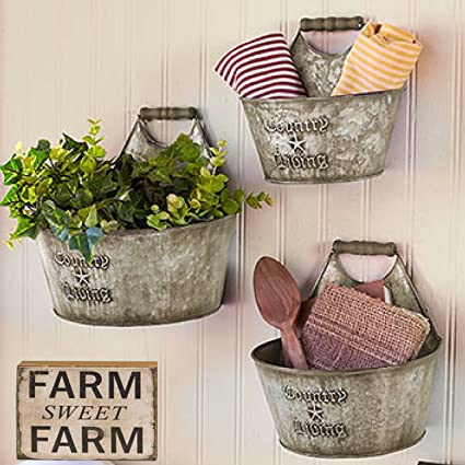 Amazon Rustic Wall Buckets