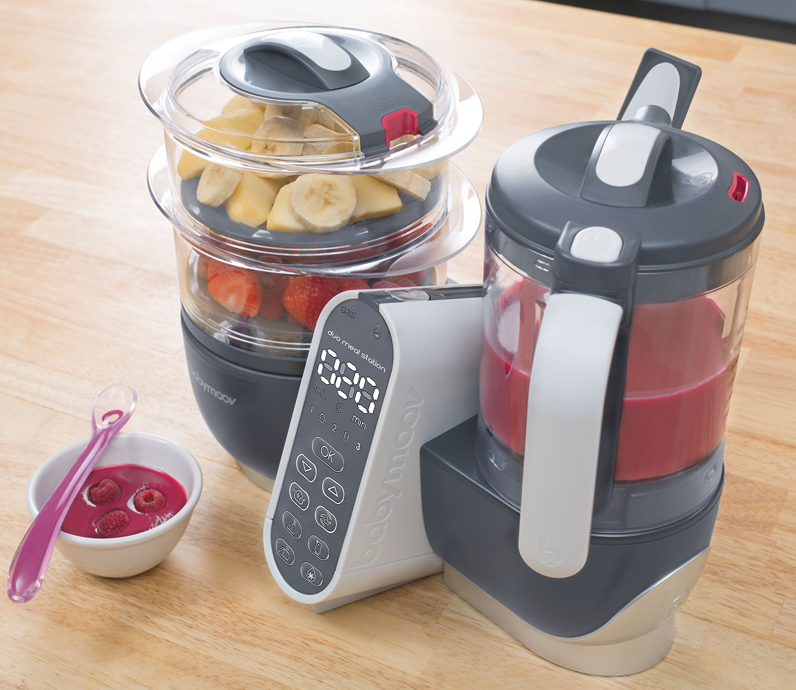 Duo Meal Station Food Maker | 6 in 1 Food Processor with Steam Cooker, Multi-Speed Blender, Baby Purees, Warmer, Defroster, Sterilizer (2019 NEW VERSION) by Babymoov (Image #3)