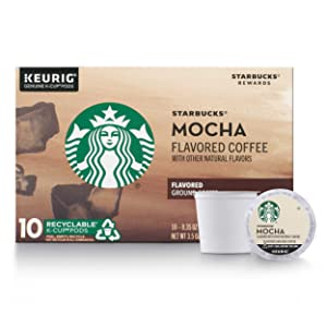 Starbucks Flavored K-Cup Coffee Pods — Mocha Caffè Latte for Keurig Brewers — 1 box (10 pods)