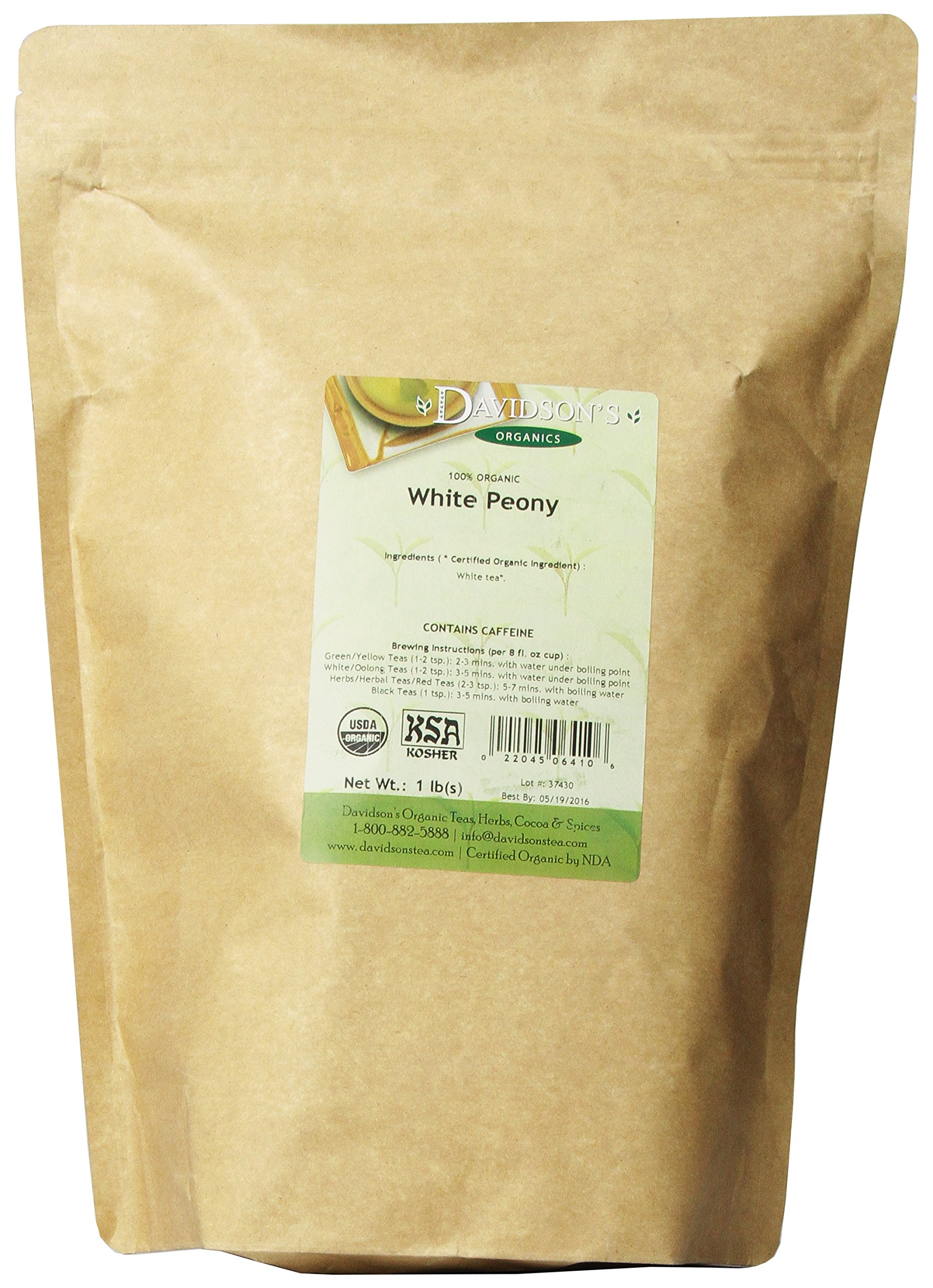 Davidson's Tea Bulk, White Peony, 16-Ounce Bag by Davidson's