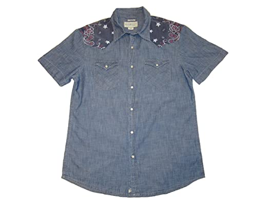 f310474b2a RALPH LAUREN Denim   Supply Men s Slim Chambray Western Shirt (Blue) ...
