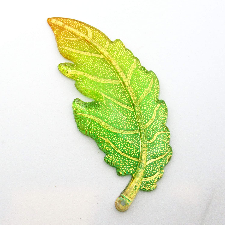 Green Orange Large Leaf Acrylic Needle Minder