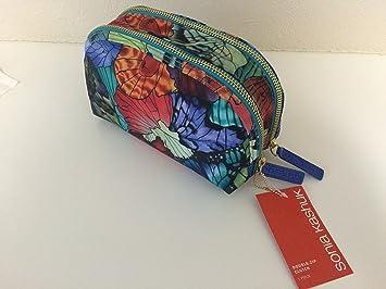 Amazon Com Sonia Kashuk Double Zip Clutch Makeup Bag Butterfly