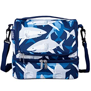 Wildkin 52700 Sharks Two Compartment Lunch Bag, One Size