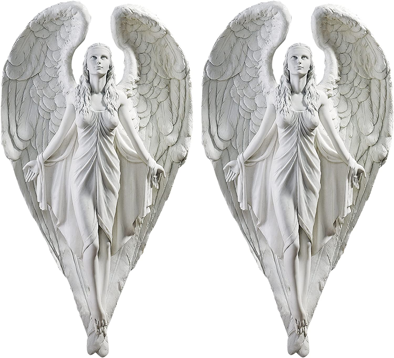 Design Toscano Spiritual Path Angel Wall Sculpture (Set of 2)