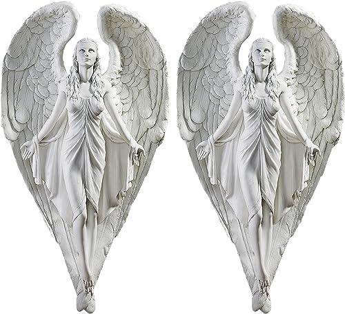 Design Toscano Spiritual Path Angel Wall Sculpture Set of 2