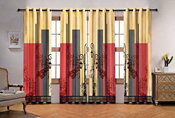 Buy Ultimate Trends Polyester Fancy Modern Curtains For Living Room For Window 6 Feet Set Of 4 Multi Color Online At Low Prices In India Amazon In