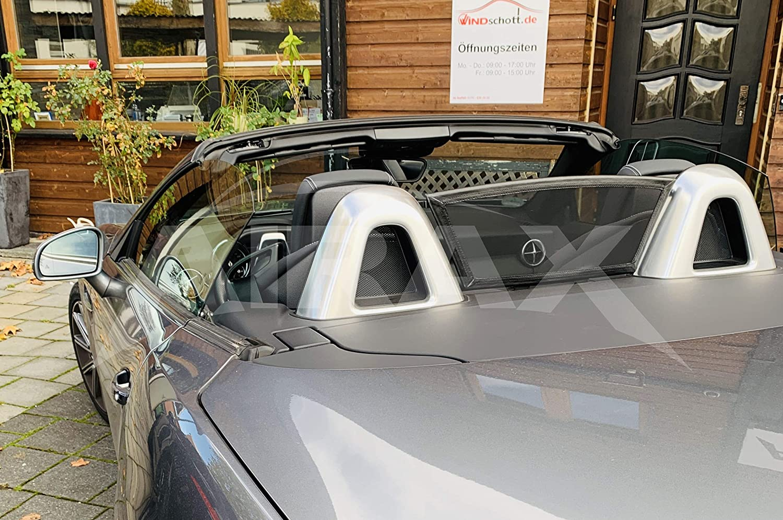 Windabweiser Windblocker Schwarz GermanTuningParts Windschott f/ür Mercedes SLK R172 2011-2017 Wind Deflector