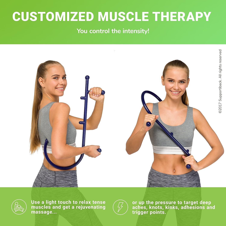 Supportiback ® Auto-Masajeador Ortopédico para Nudos Musculares Patentado, para Alivio Inmediato del Dolor de Espalda y Tensión Muscular - Herramienta ...