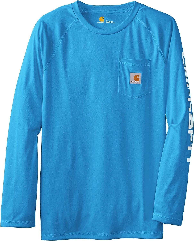 Carhartt Boys Big Long Sleeve Pocket Logo T-Shirt