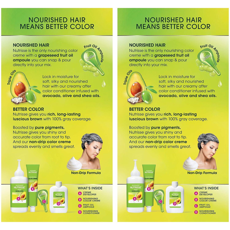 Amazon.com : Garnier Hair Color Nutrisse Nourishing Hair Color Creme, 613 Light Nude Brown, 2 Count : Beauty
