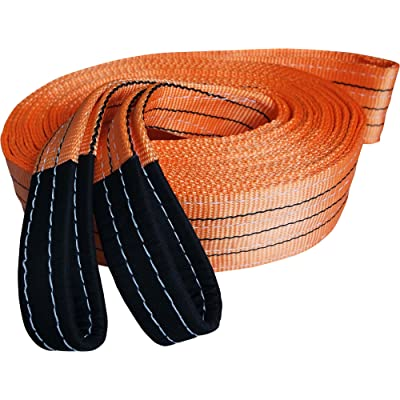 "Titan Auto Heavy Duty Recovery Strap | for Off-Road Recovery and Towing (3.5"" x 30' 35K LBS, Orange & Black): Automotive"