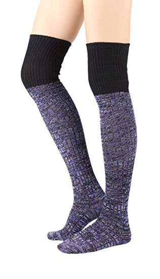 Stylegaga Winter Knit Over The Knee High Boot Socks One Size Xs