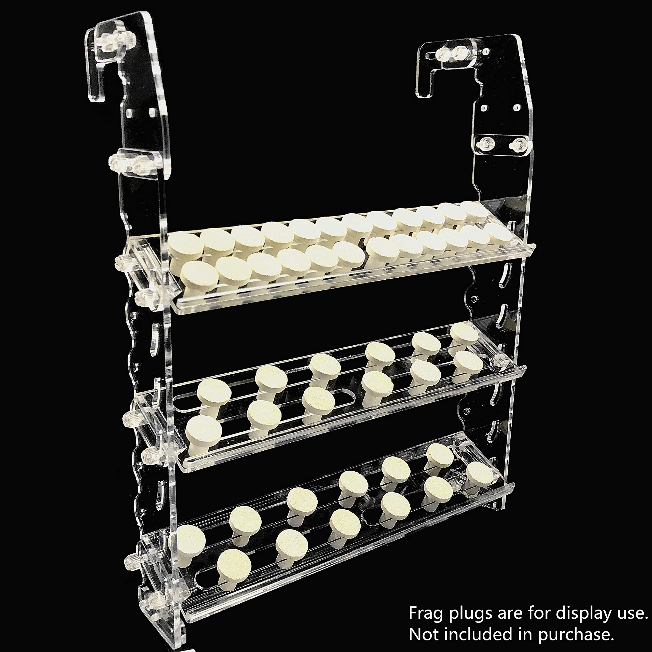 Reefing Art Vertical Frag Rack Holds up to 84 Coral frag Plugs Hang on Back (Large) by Reefing Art