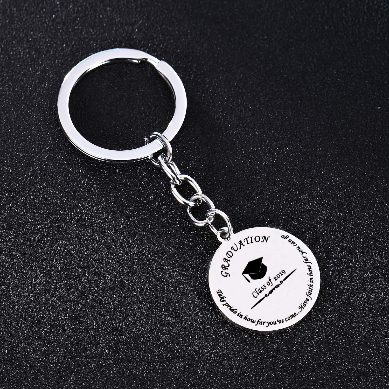 2019 BESPMOSP Class of 2019 Graduation Inspiration Keychain Best Friend Take Pride in How Far Youve Come