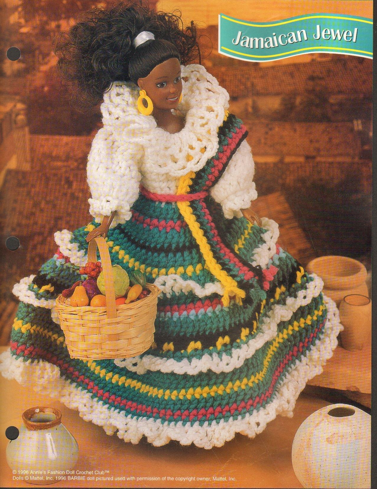 1997 Annies Attic Fashion Doll Crochet Club Pattern Leaflet