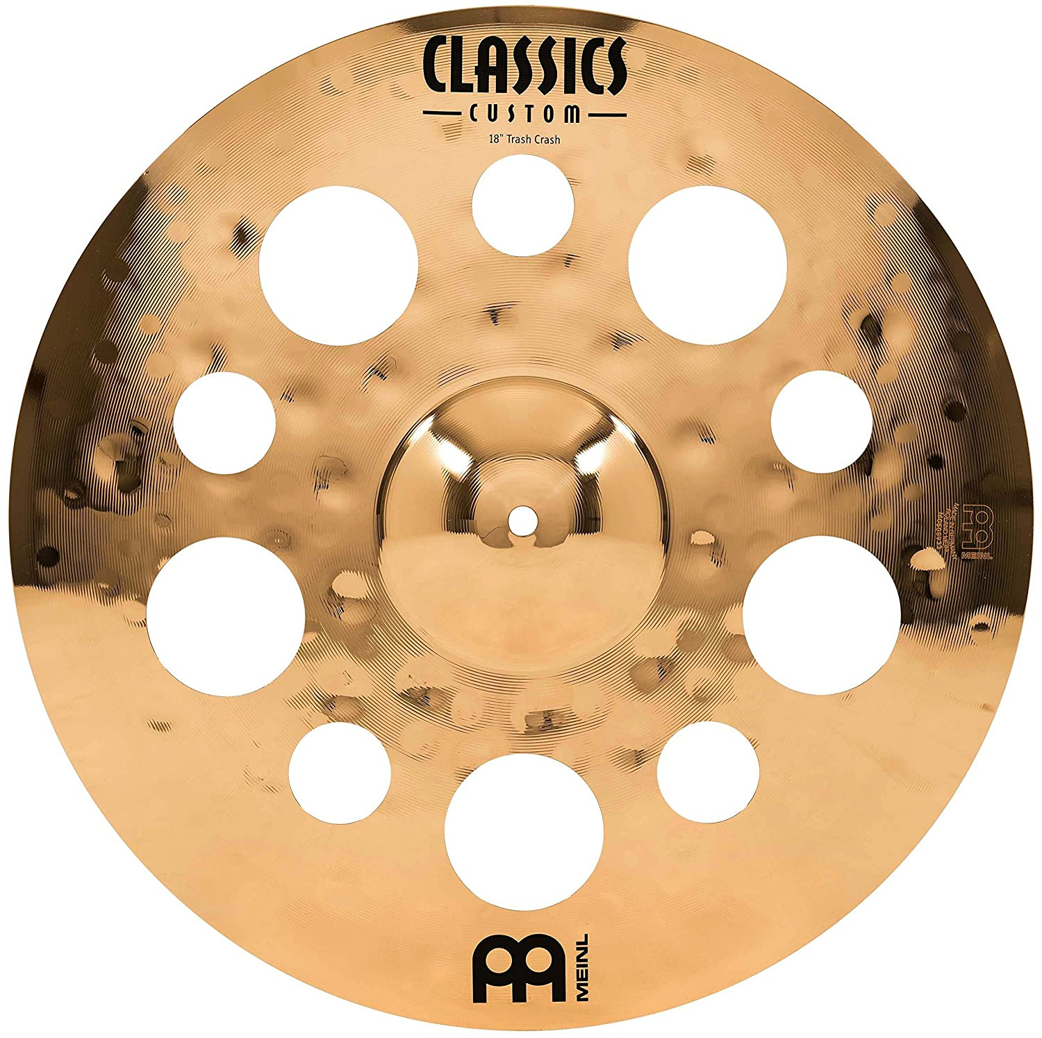 Meinl Cymbals CC18TRC-B Classics Custom Serie 45, 72 cm (18 Zoll) Trash Crash Brilliant Finish Becken