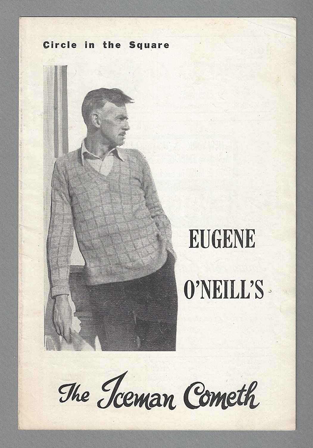 Eugene O'Neill'THE ICEMAN COMETH' George Segal/Henderson Forsythe/Jose Quintero 1957 Off-Broadway Playbill