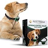 Collier Anti-Aboiement Pets Finest pour Chiens – Collier de Dressage pour Chiens avec Son & Vibration (Les grandes races de chiens, Noir)