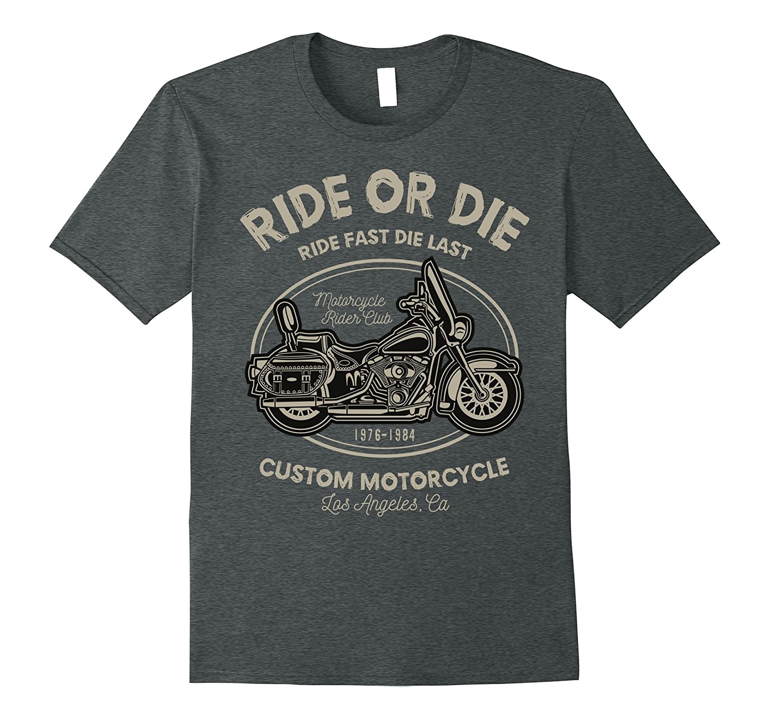 ff4f35143 Mens Custom motorcycle T Shirts Design sayings ride or die-ANZ ...