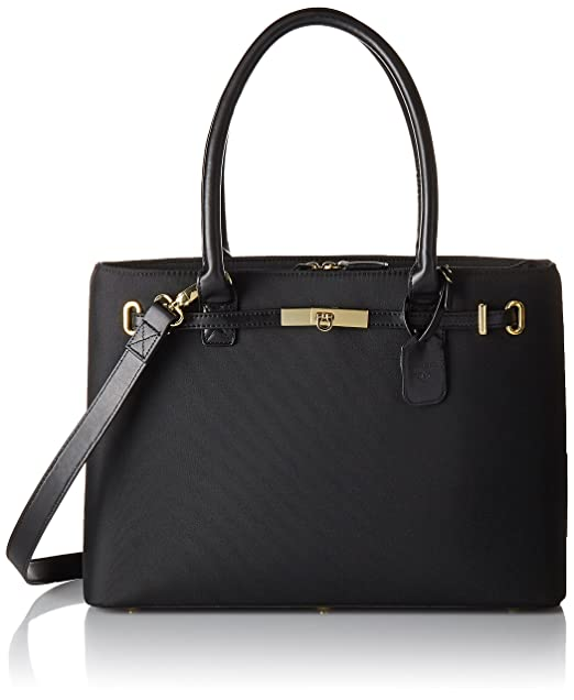 Amazon.com  Women In Business Thoroughbred Laptop Tote - Black ... 160483a2bc