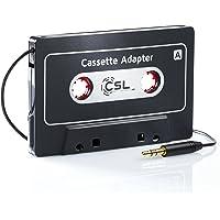 CSL HQ - Adattatore AUX IN per autoradio a cassette | audiocassetta con cavo Jack da collegare a qualunque periferica dotata di uscita cuffie | Converti vecchie Autoradio |AUX IN Autoradio cassette| jack da 3,5mm