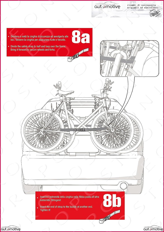 Proposteonline Portabici Posteriore 3 Bici Omologato Compatibile con KIA NIRO 5 Porte dal 2016 in Poi 004465