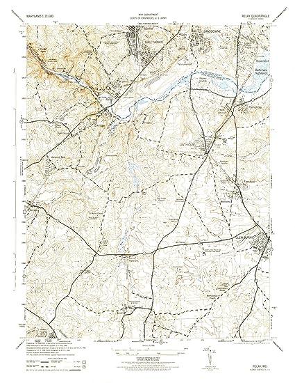 Amazon.com: Maryland Maps | 1944 Relay, MD USGS Historical ...