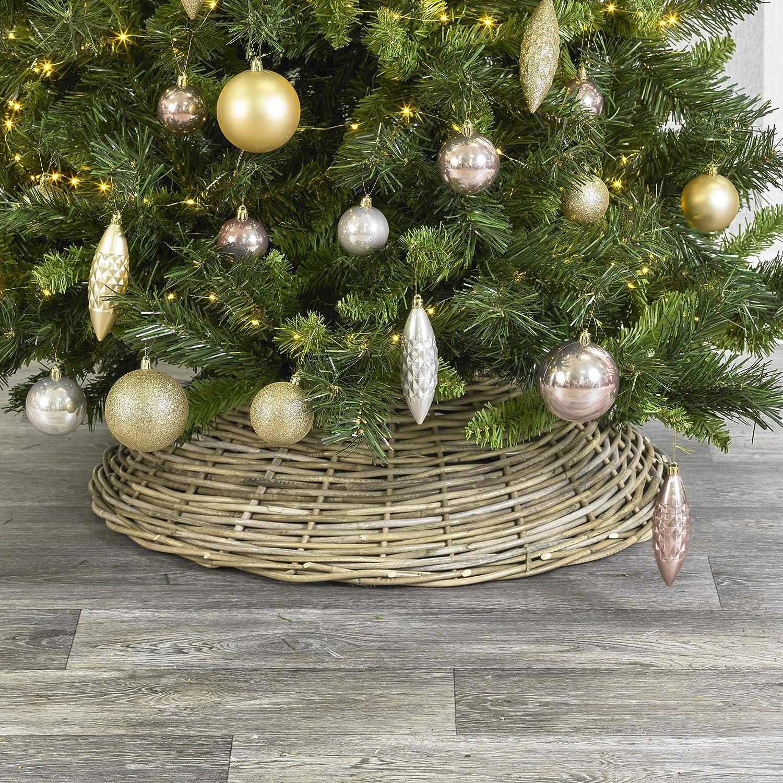 URBNLIVING - Faldas de Mimbre para árbol de Navidad (tamaño ...
