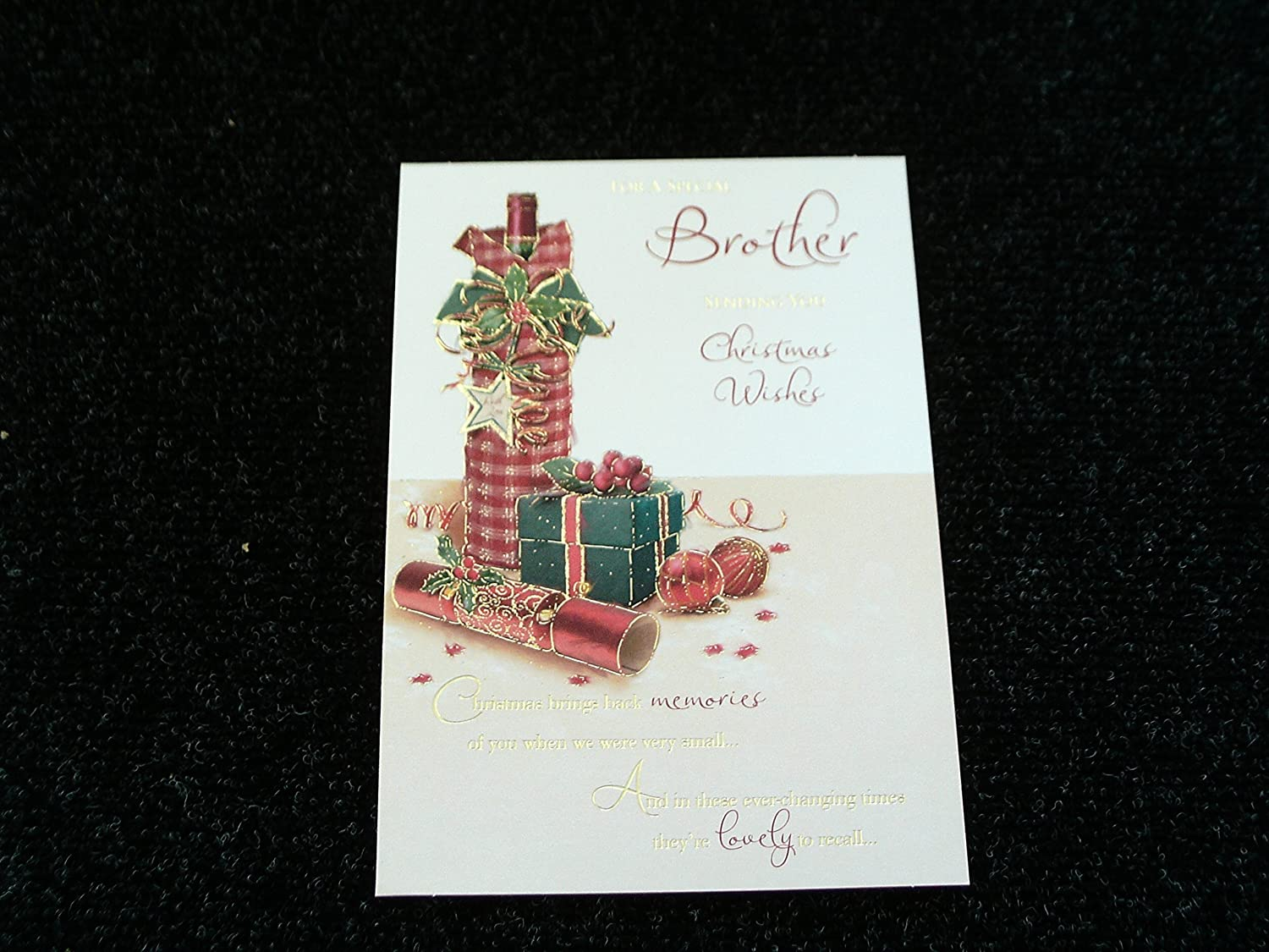 Nice verse quality gold foil lots of love christmas greeting card nice verse quality gold foil lots of love christmas greeting card brother amazon kitchen home kristyandbryce Image collections