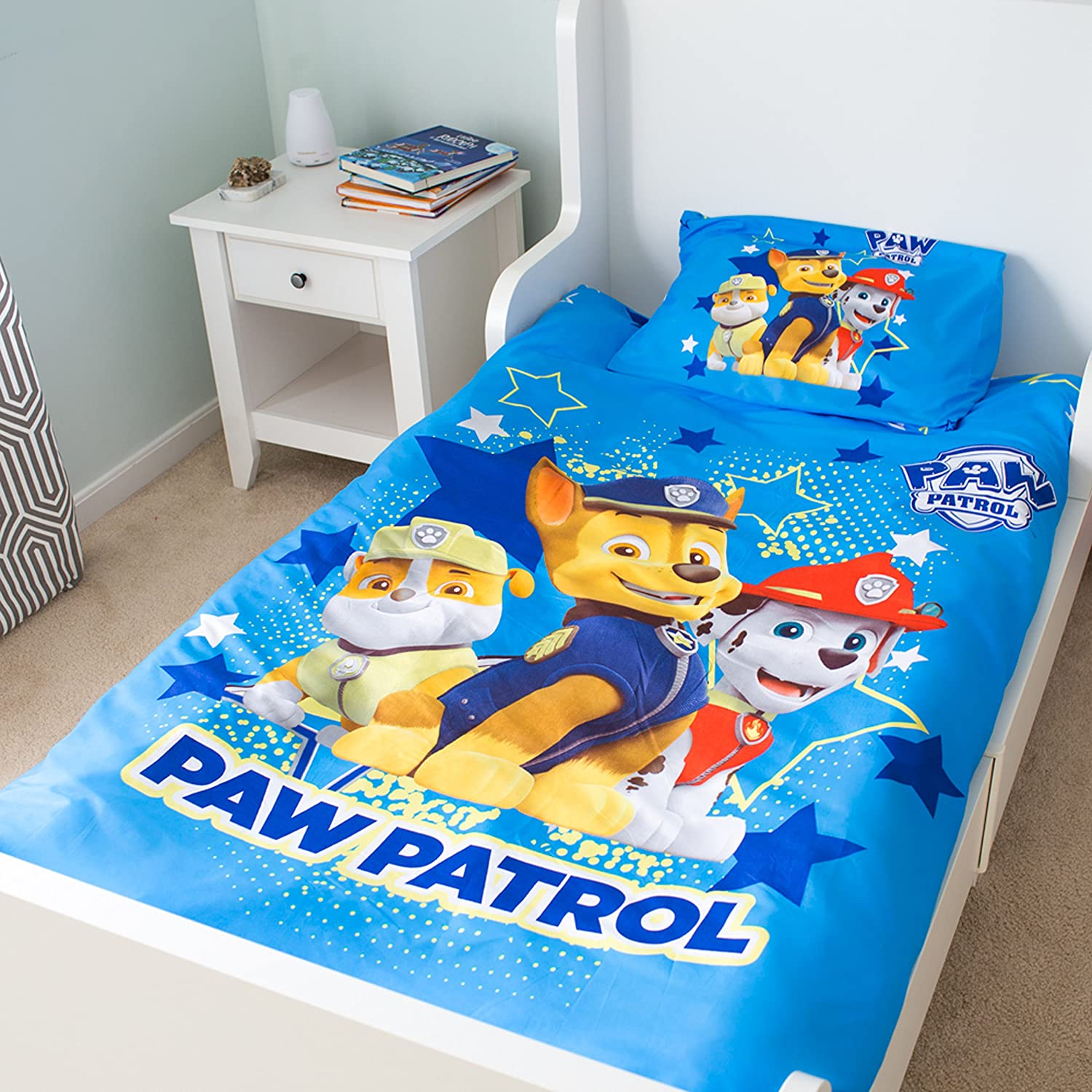Nick Jr Paw Patrol 55 by 78-Inch Duvet Cover with Pillow cover, Twin
