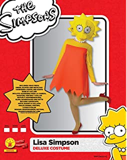 Rubies s Oficial Adultos de Disfraz de Lisa Simpson – Grande
