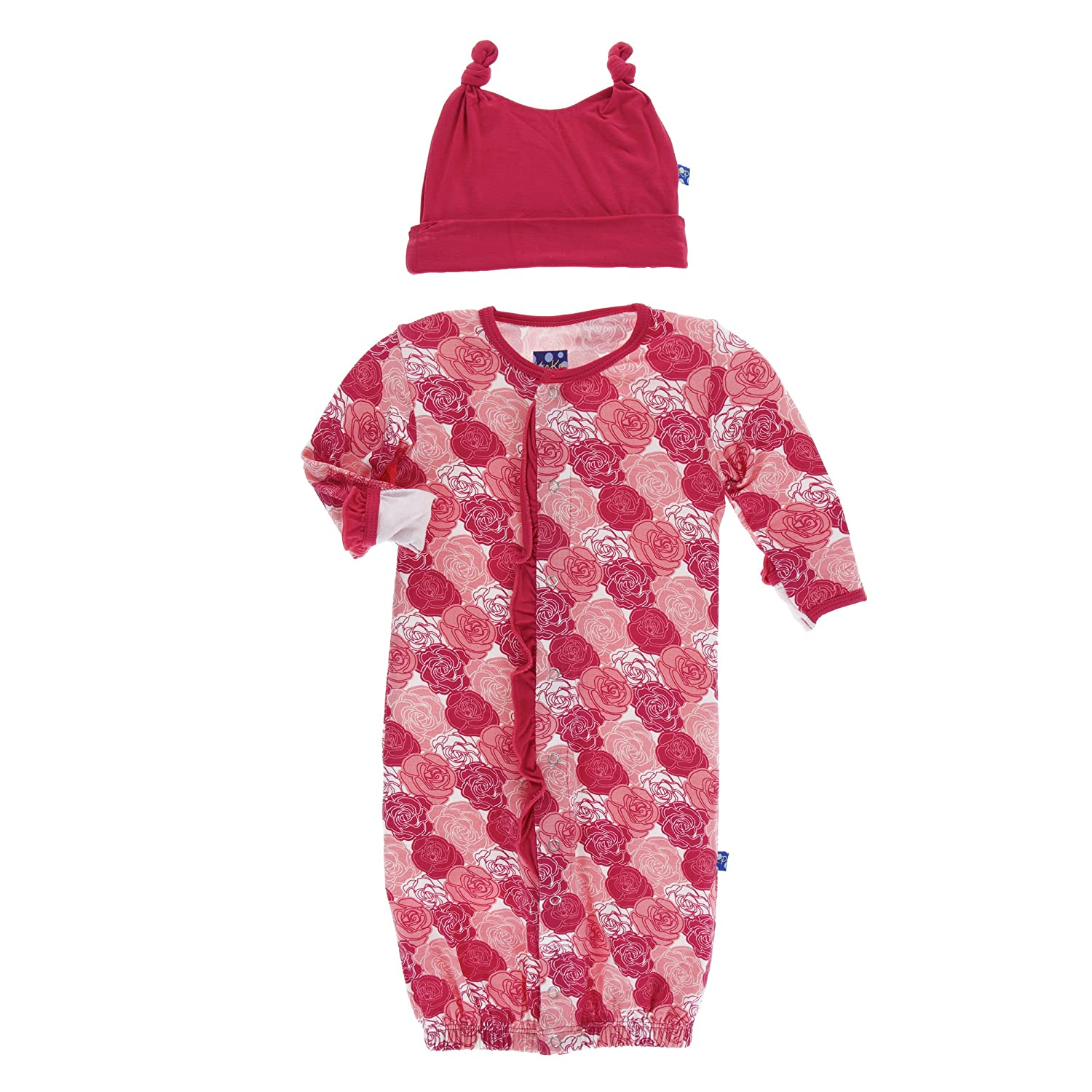 Kickee Pants Baby Girls\' Print Ruffle Layette Gown Converter and ...