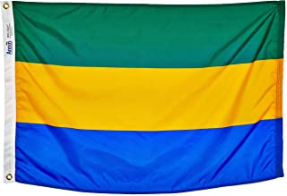 product image for Annin Flagmakers Model 192753 Gabon Flag Nylon SolarGuard NYL-Glo, 2x3 ft, 100% Made in USA to Official United Nations Design Specifications