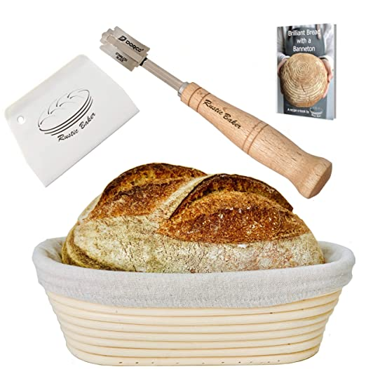Juego de cestas para hacer pan del Rustic Baker: Amazon.es: Hogar