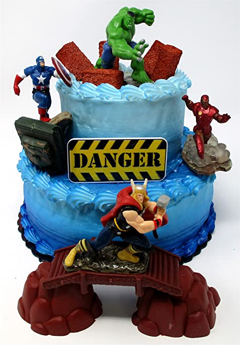 Amazon Avengers Deluxe Super Hero Birthday Cake Topper Set