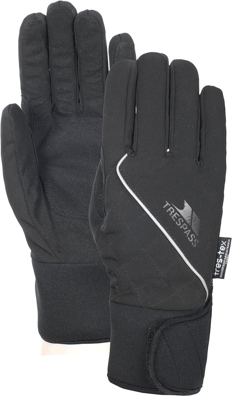S Trespass Womens//Ladies Whiprey Waterproof Active Sport Gloves Black