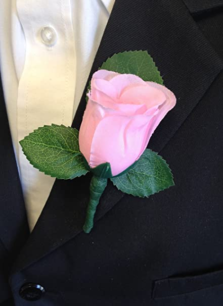 Amazon.com: Baby Pink Rose Boutonniere With Pin For Prom, Party, Wedding:  Home U0026 Kitchen
