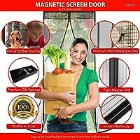 Lebefe Actualizado Puerta magnética de la pantalla Sew-in