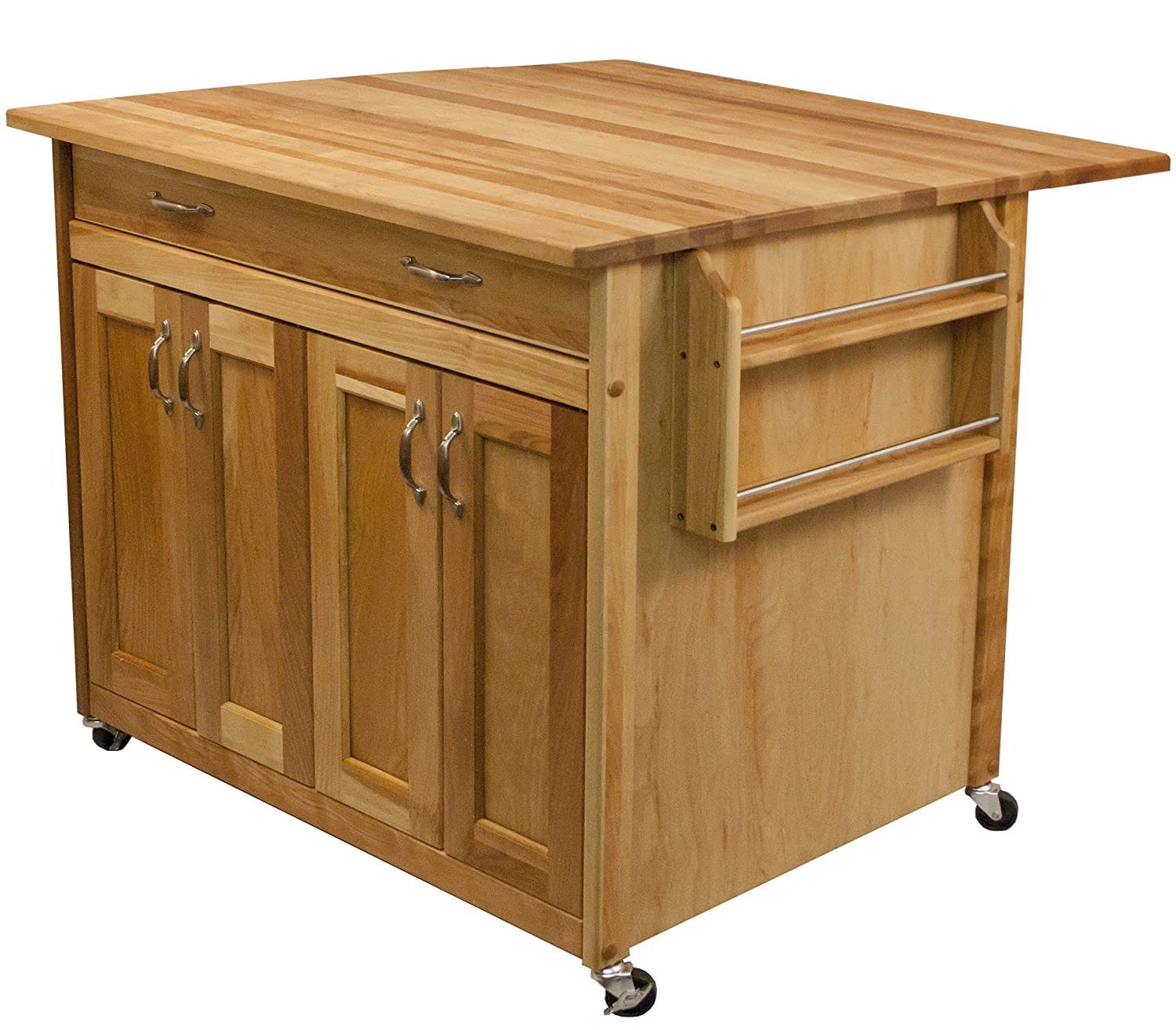 Superieur Amazon.com   Catskill Craftsmen Deep Island With Flat Panel Doors And Drop  Leaf   Kitchen Islands U0026 Carts