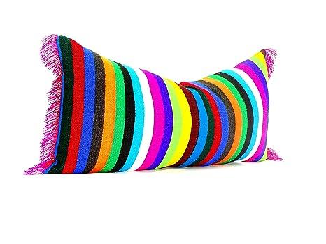 Amazon.com: Mexicano otomi almohada cubierta, hecha a mano y ...