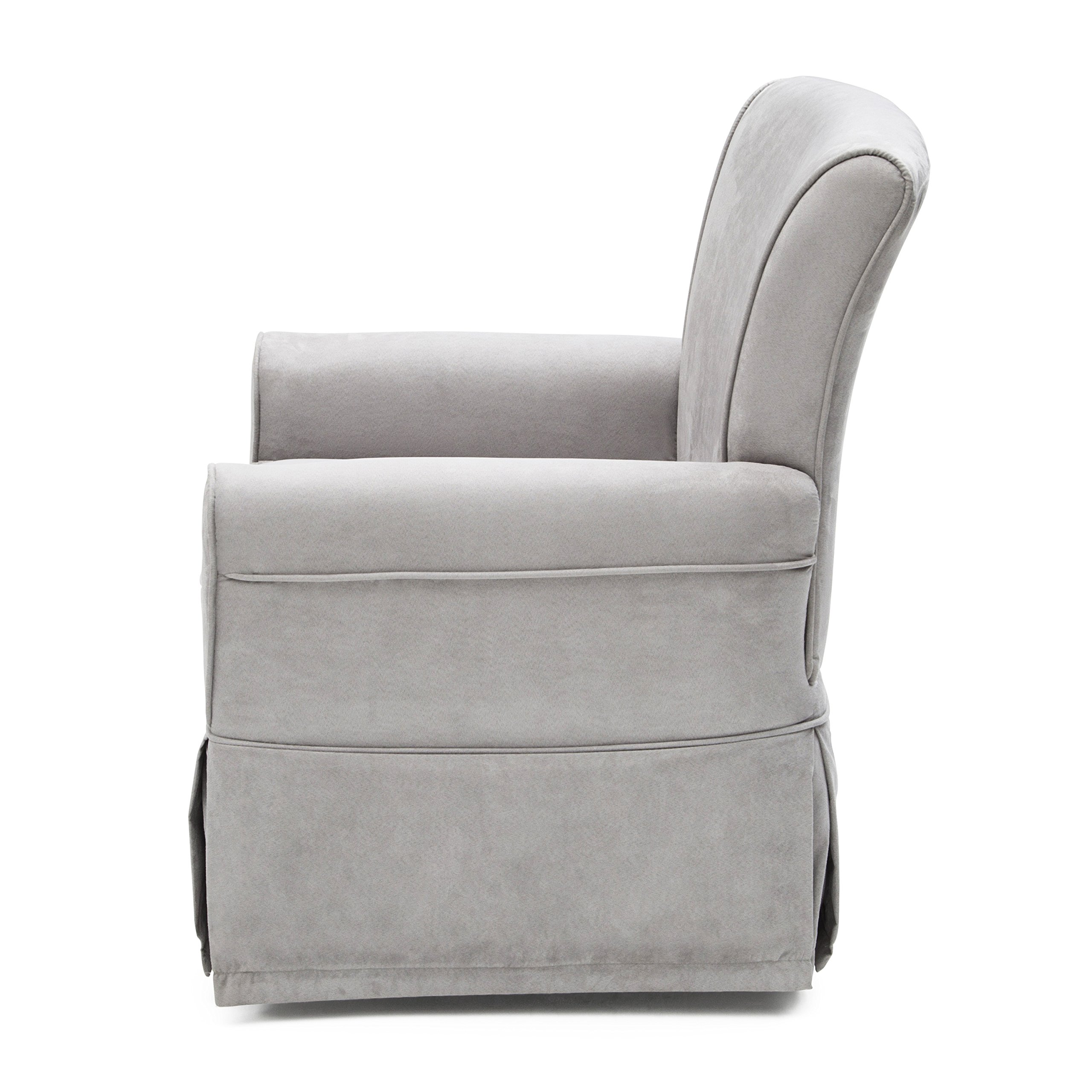 Delta Furniture Benbridge Upholstered Glider Swivel Rocker Chair, Dove Grey by Delta Furniture (Image #3)
