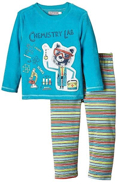 boboli, PIJAMA TERCIOPELO - Pijama para bebés, color turquesa, talla 4 años