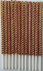 (Qty 36) Diamond Rhinestone Bling Cake Pop sticks, Treat Sticks, Bling Lollipop Sticks, Candy buffet sticks, Sucker Sticks (Orange)